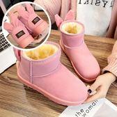 【36-40全尺碼】雪靴. 可愛風貓耳朵甜蜜糖果色短靴