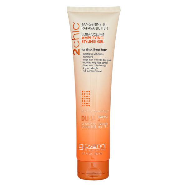 Giovanni 2chic Ultra-Volume 天然橘子木瓜油秀髮造型啫喱 ( 纖細及柔軟髮質 )150ml ~