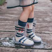 兒童雨鞋女男童寶寶防滑1-3-6嬰幼兒童水鞋膠鞋小童可愛透明雨靴 露露日記