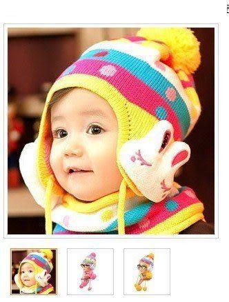 兔帽子圍巾