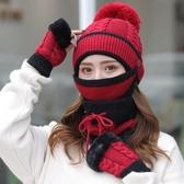 防風帽騎車保暖毛線帽加絨加厚冬天騎車防風防寒針織帽防風莎瓦迪卡