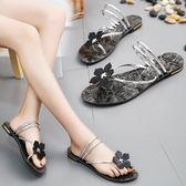 涼鞋  新款外穿拖鞋平底涼拖鞋時尚海邊沙灘鞋女鞋 MM144 『小美日記』