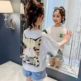 女童短袖t恤2020年夏季寬鬆洋氣童裝韓版棉質半袖兒童夏裝上衣潮 OO9683『科炫3C』