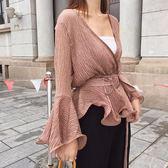 SHINE KOREA  新款V領氣質雪紡上衣