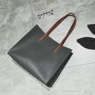手提包 手提包女大包流行側背包大容量斜背包潮流百搭簡約購物袋洋氣時尚 晶彩 99免運