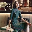 改良版民國旗袍年輕款少女修身復古老上海中...