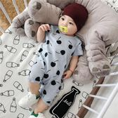 嬰兒連體衣服夏季新生男女寶寶短袖全棉平角夏天哈衣爬爬服0-1歲 LI2448『毛菇小象』
