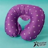 【PolarStar】旅行U型吹氣枕 充氣枕.頭靠枕.護頸枕.旅行枕.飛機枕.乘車.攜帶方便- P17735 『紫』