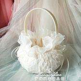西式婚禮結婚婚慶用品禮物 創意花童花籃蕾絲花邊手提撒花瓣籃子 促銷價