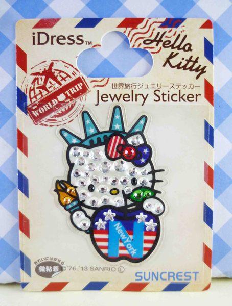 【震撼精品百貨】Hello Kitty 凱蒂貓~KITTY鑽貼紙-地球村系列-紐約自由女神