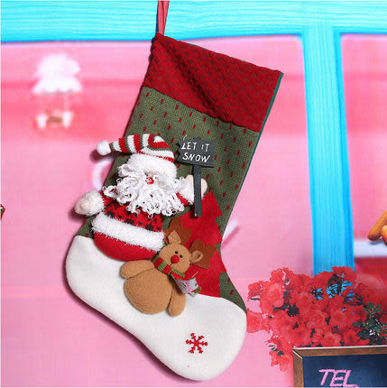 聖誕襪禮品袋B75