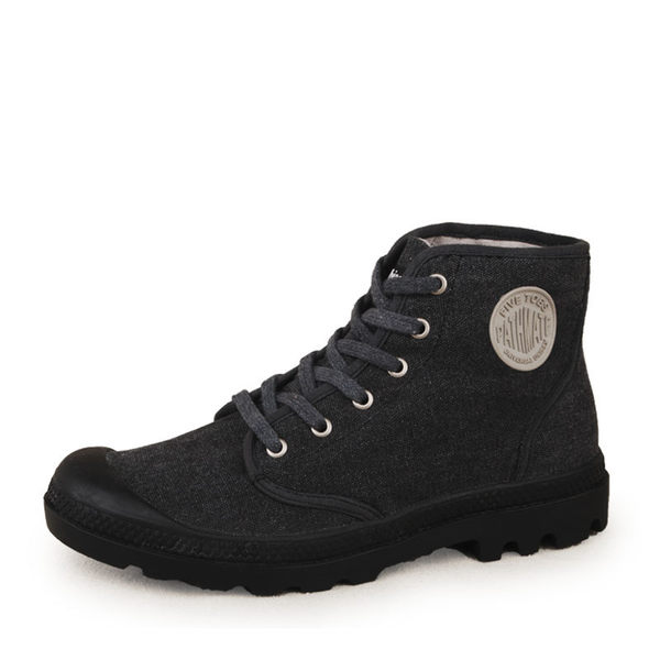 高幫帆布鞋韓版戶外休閑鞋男女系帶牛仔布鞋復古潮鞋 潮男街