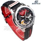 CASIO卡西歐 EDIFICE Honda 汽車賽車迷紀念 EQS-930HR-1A 計時 三眼 逆跳 男錶 限量錶