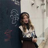 針織馬甲-V領無袖毛衣背心女馬夾秋季韓版學院風復古寬松針織馬甲開衫 Korea時尚記