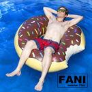 ◇方妮FaNi◇歐美火紅【甜甜圈成人游泳圈浮板】甜甜圈咬一口泳圈度假海灘沙灘可搭充氣泳池