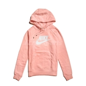Nike 長袖T恤 NSW Hoodie 粉橘 白 女款 帽T 連帽 運動休閒 【PUMP306】 BV4127-697