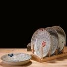 ▶日式釉下彩餐具陶瓷盤子牛排盤酒店創意西...