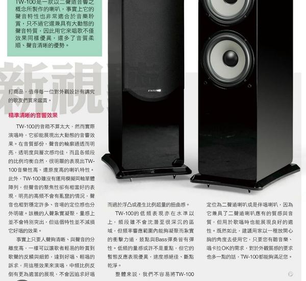 限量製造《名展影音》台灣製造 ~ 燕聲Ensing TW-100  Hi-Fi 頂級鋼烤喇叭