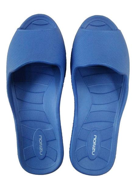 〝任選3雙只要499元〞MONZU滿足曲線輕量兒童室內拖鞋(寶藍20)