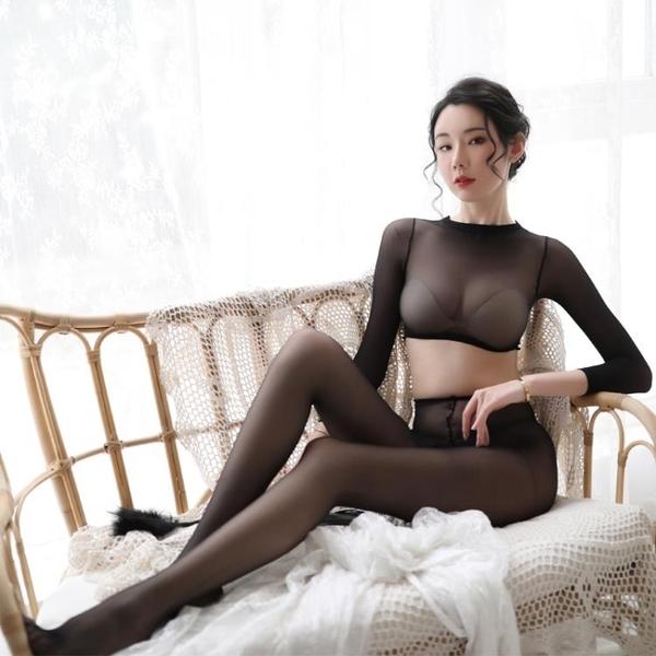 性感情趣騷內衣透明絲襪激情套裝制服誘惑超騷血滴子變態免脫裙子