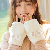 手套女冬天加絨學生可愛萌韓版潮卡通加厚毛絨ins 騎行保暖棉冬季