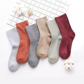 女-中筒襪子 女襪ins潮網紅款可愛日系純色棉襪春秋冬季款女士中長筒 【免運】