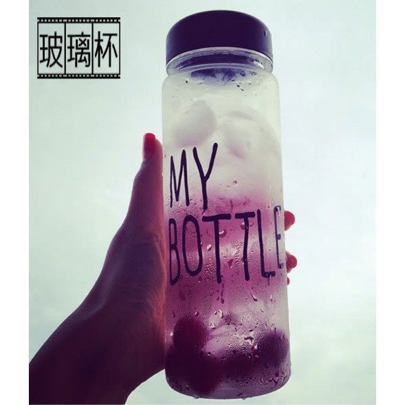 My bottle #玻璃瓶 保證不漏水 水壺 隨行杯 零食罐 透明 (不含布袋)【A008】