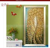 手繪油畫客廳裝飾畫現代簡約壁畫無框畫歐式有框畫玄關發財樹金
