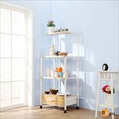電器架 廚房櫃【百嘉美】多功能4層1抽附插座廚房電器架/收納架/微波爐架