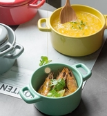 燉盅 碗 五色創意陶瓷餐具甜品碗 家用燕窩燉盅烤碗輔食蒸蛋碗帶蓋湯碗 暖心生活館