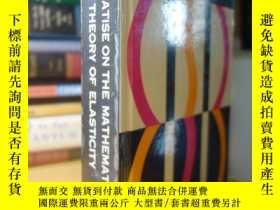 二手書博民逛書店數學彈性理論經典名著罕見Love 的 A treatise on the mathematical theory