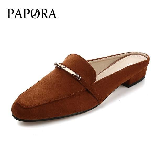 拖鞋‧全新亮飾前包後空拖鞋式小包鞋【K3338-8】黑/棕/杏