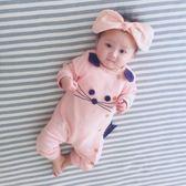 女嬰兒連身衣服寶寶45新生兒2網紅1歲春裝0個月3公主可愛超萌  伊衫風尚