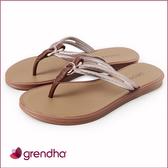GRENDHA 炫彩印度風夾腳鞋-褐色/玫瑰金