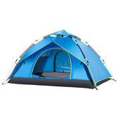 週年慶優惠-全自動帳篷戶外3-4人二室一廳加厚防雨2人家庭野營野外露營TZGZ