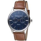康斯登CONSTANT經典日期紳士腕錶  FC-259NT5B6 藍