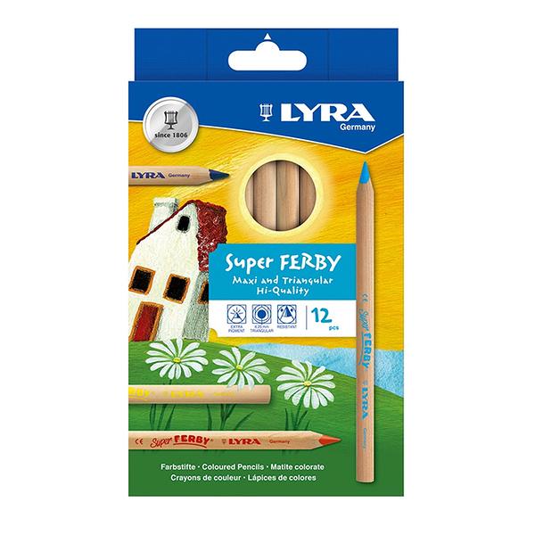 【德國 Lyra】三角原木色鉛筆 (17.5cm)12色 3711120