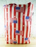 【震撼  】   牛仔提袋美國國旗紅把