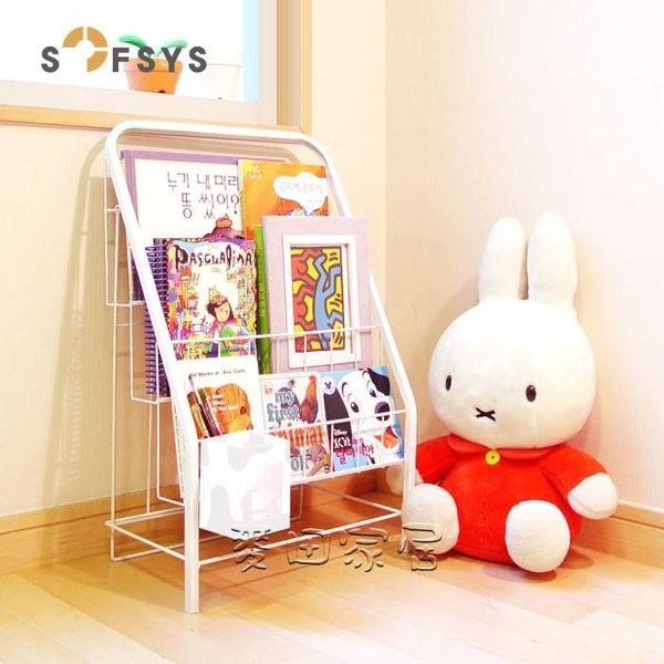 雜誌架 兒童書架繪本架書報架落地雜志架展示架鐵藝小書架寶寶書架jy 【快速出貨八折】