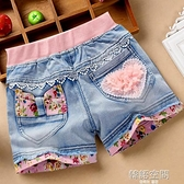 女童牛仔短褲夏季2020新款洋氣外穿破洞兒童裝小女孩百搭薄款熱褲