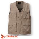 【Wildland 荒野 中性透氣UV多口袋背心《卡其》】W1706/吸濕快乾/輕薄耐磨/UV30+