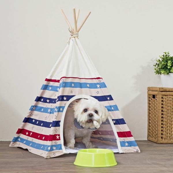 寵物屋 寵物墊【收納屋】俏皮印第安寵物帳篷&DIY組合傢俱