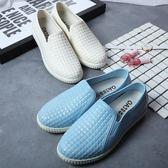 夏季白色防滑雨鞋女時尚成人雨靴淺口短筒水鞋低筒平底防水鞋膠鞋