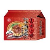 美味小舖牛肉湯麵袋72G x5包【愛買】