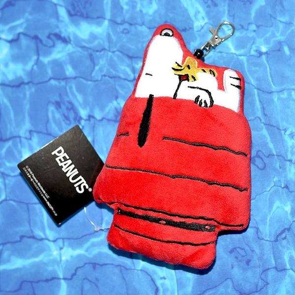 Snoopy 電子卡包 可伸縮 吊飾 鑰匙扣 wood stock 黃色小鳥 日本正版