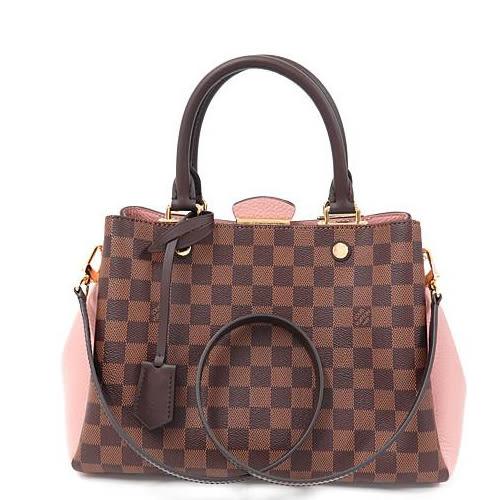 Louis Vuitton LV N41674 Brittany 棋盤格紋皮革鎖組兩用包 全新 預購【茱麗葉精品】