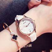 手錶女正韓簡約潮流時尚學生防水優雅皮帶石英錶休閒氣質女時裝錶