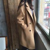店長嚴選毛呢外套女修身加厚秋冬新款女裝韓版大碼寬鬆中長款呢子大衣學生