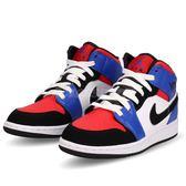 Nike Air Jordan 1 Mid GS Top 3 白 藍 紅 喬丹 1代 飛人 AJ1 中筒 女鞋 中童鞋【PUMP306】 554725-124