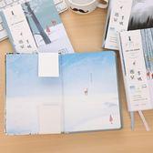女生日記本 文藝小清新 手賬本 創意 韓國 可愛彩頁手繪【父親節大優惠】